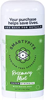 SmartyPits - Natural/Aluminum-Free Deodorant (with baking soda) Paraben Free, Phthalate Free, PROPYLENE GLYCOL FREE, Not T...