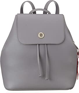 Tommy Hilfiger-AW0AW05791-Women-Backpacks-Silver Filigree/POW Check-OS