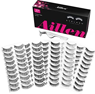 Aillen False Eyelashes 50 Pairs 5 Fashion Styles Fake Lashes Reusable Strip Lashes Multipack Natural False Eyelashes Natural Look For Makeup Eyelashes Extension With Free Professional Eyelashes Tweeze