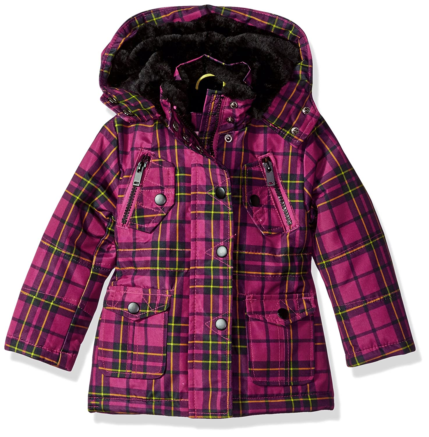 black 12M Urban Republic Baby Ur Girls Ballistic Jacket