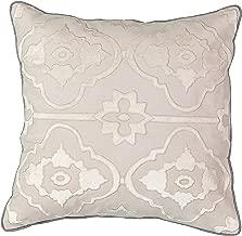 Beautyrest La Salle Applique Decorative Pillow, 18 x 18, Pumice