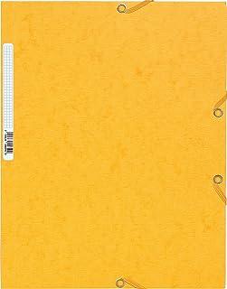 """EXACOMPTA 55859E Chemise à élastique 3 rabats """"Scotten""""carte lustrée 400gm² - A4 Jaune"""