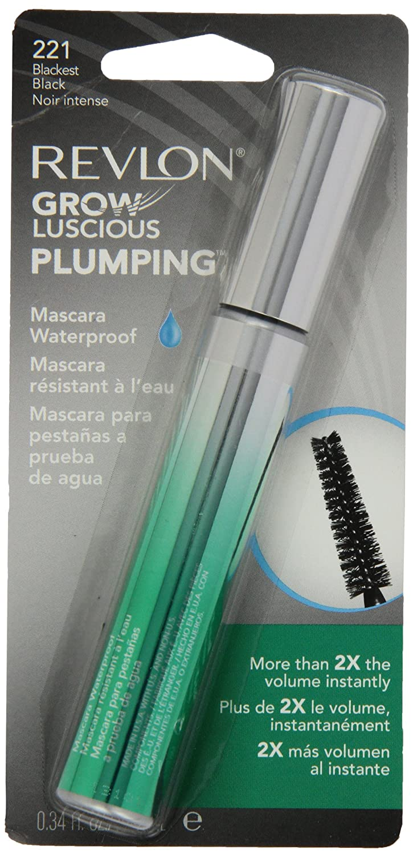 New product Revlon Grow Luscious Popular brand Plumping Waterproof Blackest Black Mascara
