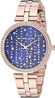 Women's Maci Stainless Steel Quartz Watch with Leather Strap