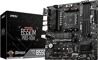 MSI 550M PRO-VDH moederbord (AMD Ryzen 3000 3e generatie AM4, DDR4, M.2, USB 3.2 Gen 1, Front Type-C, HDMI, MICRO ATX)