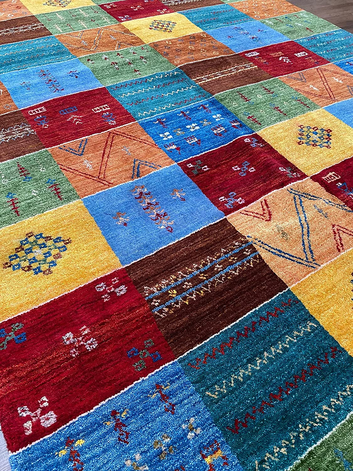 Outstanding Hafez Rug Gallery One of A Handmade Colorful Manufacturer direct delivery Tribal Ch Kind