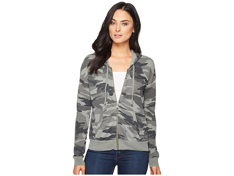 Splendid Camo Zip Hoodie (V Military Olive) Women