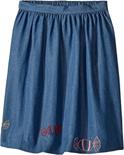 Sonia Rykiel Kids - Long Chambray Skirt w/ Embroided Candies (Toddler/Little Kids)