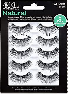Ardell False Eyelashes Natural 105 Black, 5 pairs pack