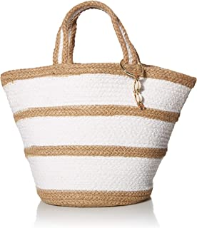 Seafolly Women's Large Woven Jute Beach Tote, Carried Away Natural, One Size