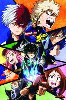 Trends International Hero Academia-Faces Wall Poster, 22.375