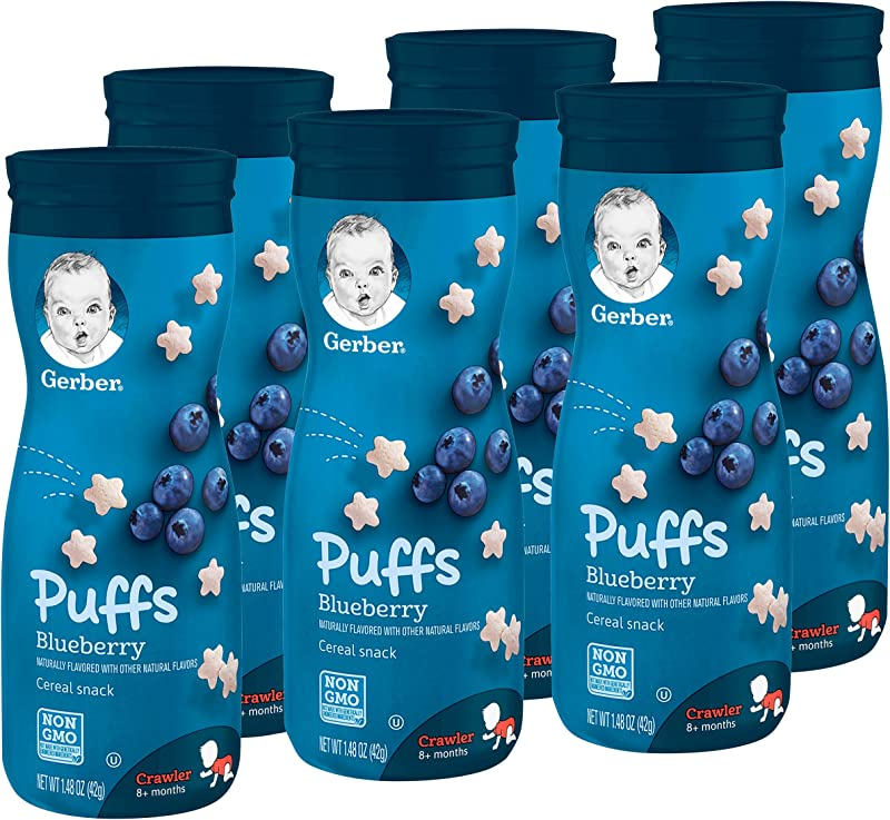 Gerber Puffs Cereal Snack Blueberry 6 Count