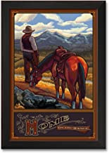 Home on The Range Professionally Framed Wall Decor by Paul A. Lanquist. Print Size: 24