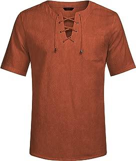 Mens Fashion T Shirt Cotton Tee Hippie Shirts Short Sleeve Beach Yoga Top