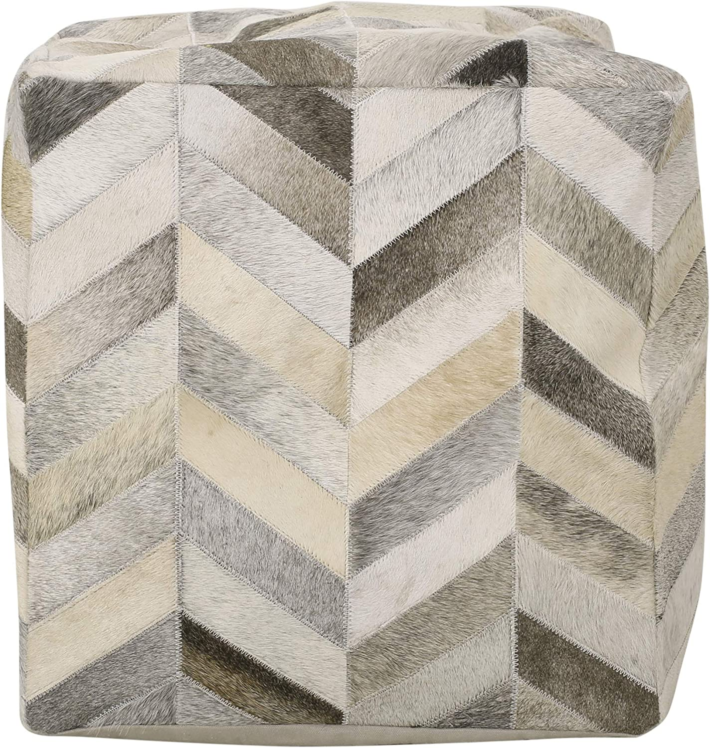 Christopher Max 80% OFF Knight Home 313541 Beige Pouf Cash special price Brown Gray