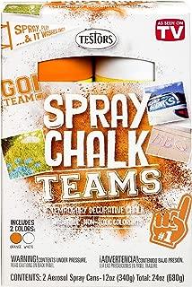 Testors 334339 Spray Chalks Teams, Orange/White