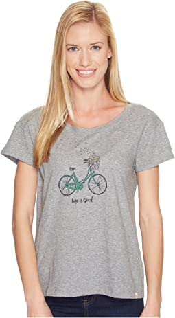 Life is Good - Heart Basket Breezy Tee