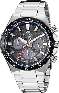 Men's Edifice Quartz Watch with Stainless-Steel Strap, Silver, 20 (Model: EQS-800CDB-1AVCF)
