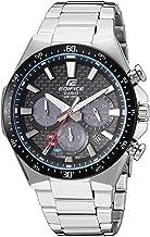 Casio Men's Edifice Quartz Watch with Stainless-Steel Strap, Silver, 20 (Model:..