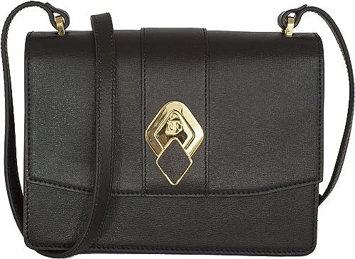 Enrica Fanini FEBE (schwarz) Frauentasche aus Saffiano Leder - Handgefertigt in Italien