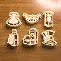 Alice in Wonderland establece moldes para galletas, moldes para galletas, adecuados para galletas, pasta de azúcar,...