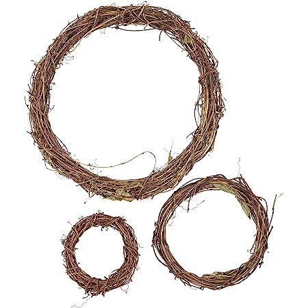 "12 Pieces GPV3 3/"" Darice Grapevine Wreaths"
