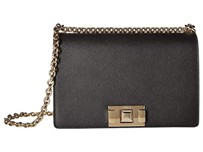 Furla Mimi Small Crossbody (Onyx) Handbags