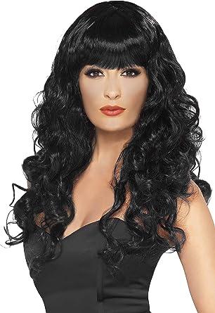 lunga SMIFFYS Smiffys riccia con frangetta Donna Taglia unica 42269 Parrucca da sirena bianca