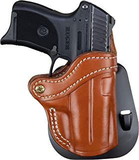 1791 GUNLEATHER Glock 43 Paddle Holster - OWB CCW G43 Holster - Right Handed Leather Gun Holster for Belts - Glock 43, Ruger LC9 and Ruger SR22 (BHC-PD)
