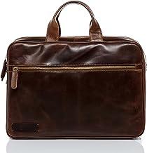BACCINI Laptoptasche echt Leder Ben groß Businesstasche 15.6 Laptop Umhängetasche Aktentasche Laptopfach Ledertasche Herren braun