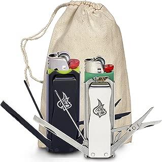 LighterBro Multitool Lighter Sleeve 2-pack Bundle Black Stainless Steel Stealth