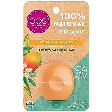 eos USDA Organic Lip Balm - Tropical Mango | Lip Care to Moisturize Dry Lips | 100% Natural and Gluten Free | Long Lasting Hydration | 0.25 oz