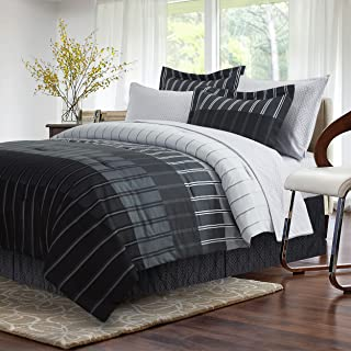 Ombre Stripe Grey 8-piece Bed-In-Bag, King