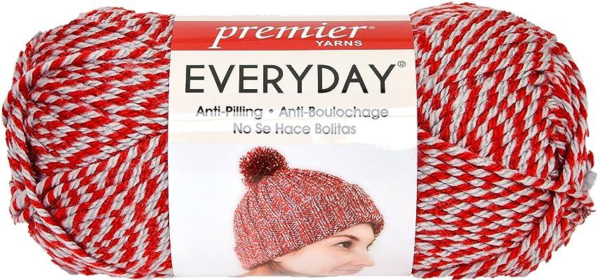 Premier Yarns Red Everyday Soft Marl Yarn