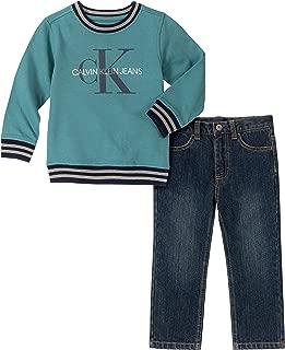 Calvin Klein Baby Boys 2 Pieces Pullover Pants Set