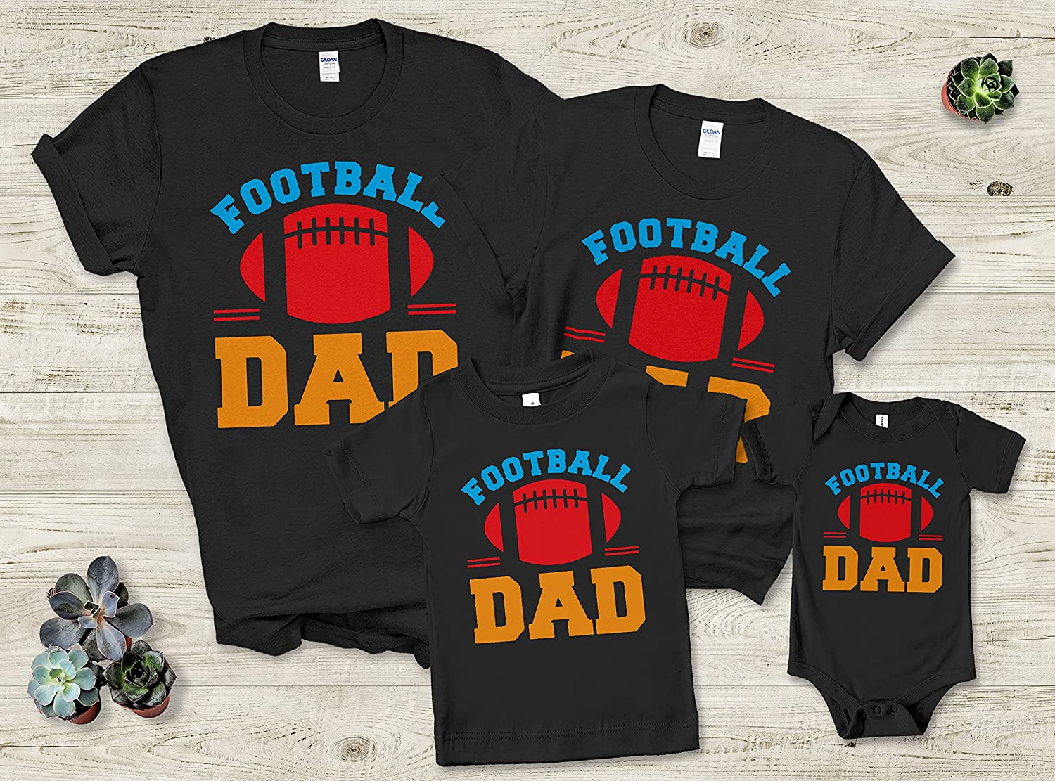 Father Mother Parents Day 2021 Football Dad Custom Personalized Family T-Shirts Gifts