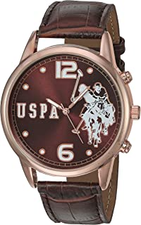 Women's Quartz Watch with Patent Leather Strap, Brown, 24...