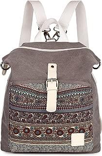 ArcEnCiel Women Girl Backpack Canvas Rucksack Shoulder Bag