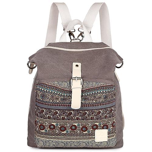 4e5378a2ad86 ArcEnCiel Women Girl Backpack Canvas Rucksack Shoulder Bag