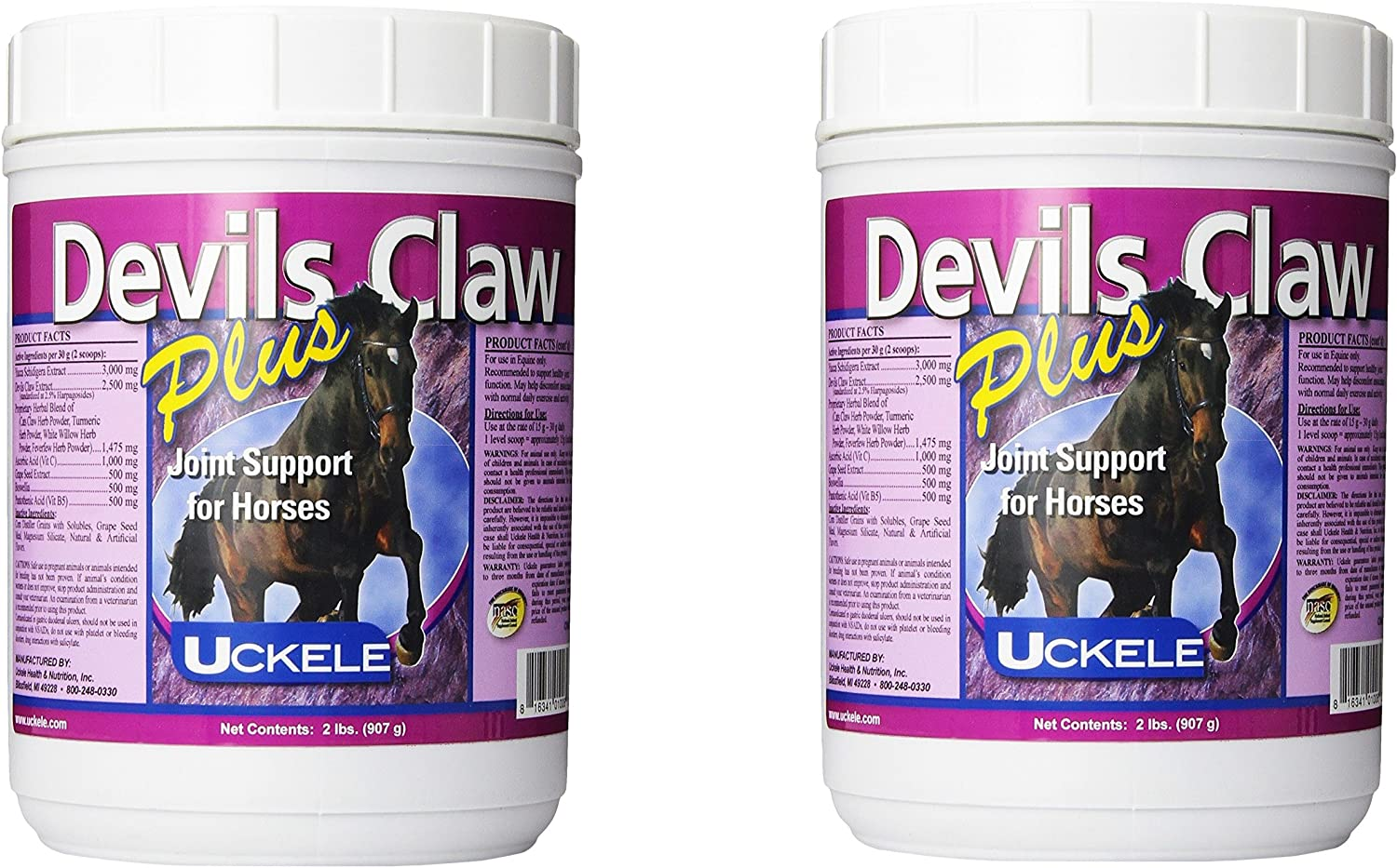 (2 Pack) Uckele Devils Claw Plus Horse Supplement, 2Pounds Each