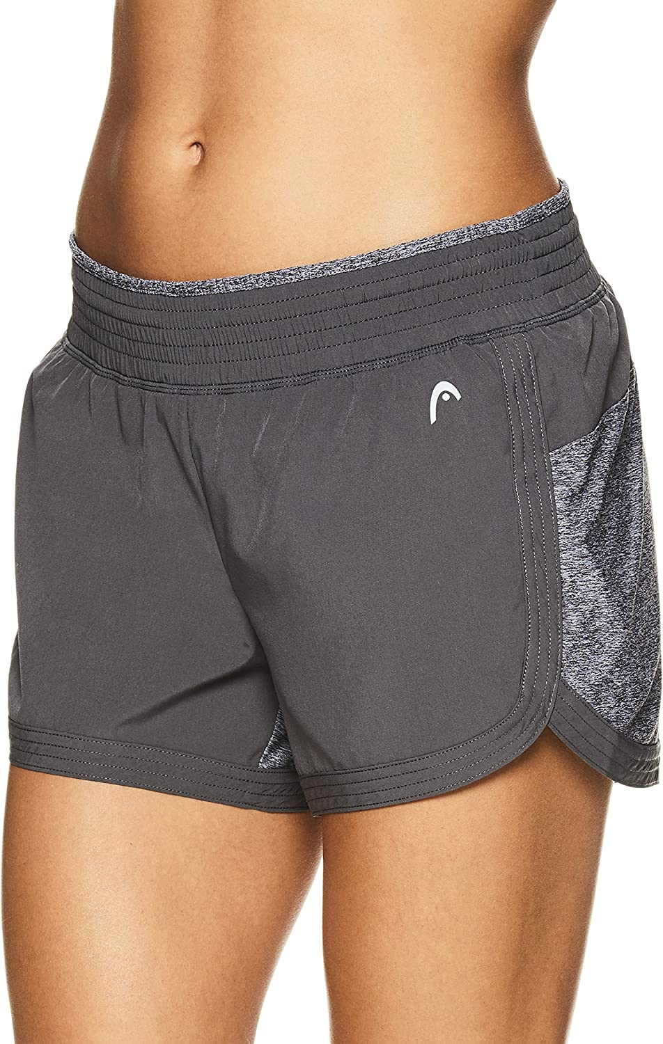 HEAD Women's Athletic Workout Shorts  Polyester Gym Training & Running Short