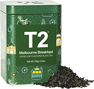 T2 Tea Melbourne Breakfast Black Tea, Loose Leaf Tea in Limited Edition Tin, 100g, 100 g