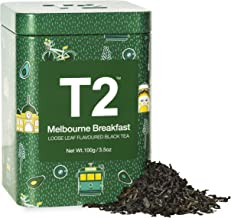 T2 Tea - Melbourne Breakfast, Loose Leaf Flavored Black Tea in Feature Tin, 3.5oz (100g)