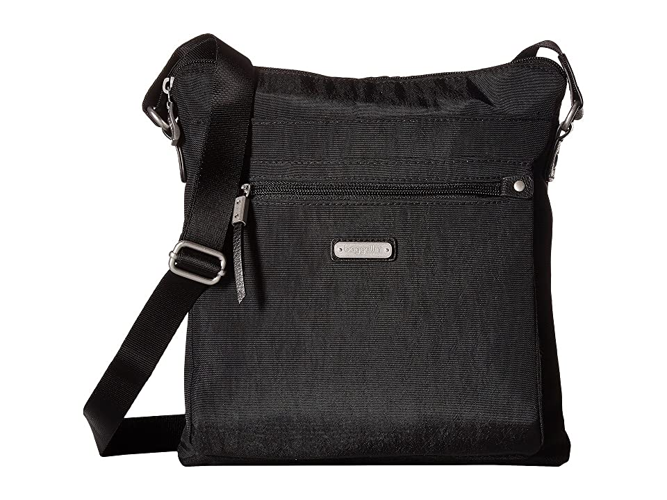 Baggallini New Classic Go Bagg with RFID Phone Wristlet (Black) Bags