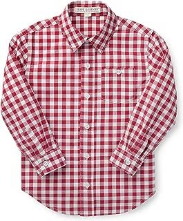 Boys' Gingham Poplin Button Down Shirt