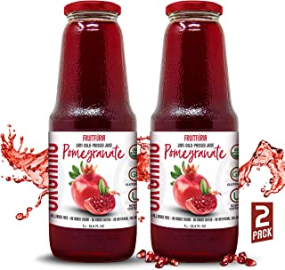 Fruitforia Organic Cold Pressed Pomegranate Juice, No Added Water or Sugar, Kosher and USDA Certified, Gluten Free with No...