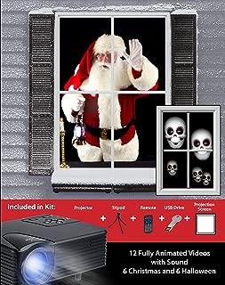 mr. christmas virtual holiday projector