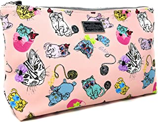 Colorful Playful Cats Wristlet/Cosmetic Bag/Travel Tote | 11 X 7 IN