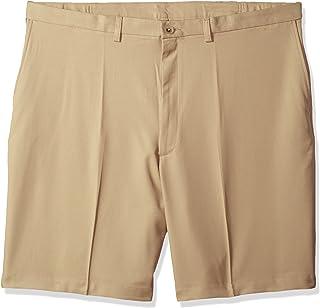 89b9da9514 Haggar Men's Big and Tall Cool 18 Pro Classic Fit Stretch Flat Front Short