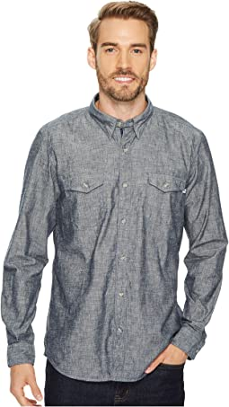 Timberland - Long Sleeve Mumford River Camo Chambray Shirt